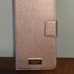 Kate Spade Iphone Plus Folio Rose Gold new